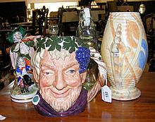 """A Doulton character jug """"Bacchus"""", together with other glass and ceramicwar"""