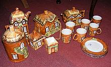 Selection of Price's cottageware, including teapots, biscuit barrel
