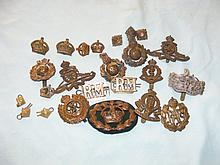 Selection of military cap badges