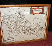 ROBERT MORDEN - hand coloured map of Berkshire
