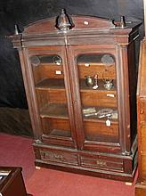 Victorian bookcase with glazed doors