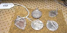 Five silver medals - various subjects