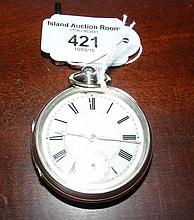 A silver gent's pocket watch with separate second hand