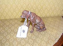 A Vienna style bronze in the form of a Bloodhound - 8cm high