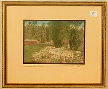 Wallace Nutting - Petunias Run Wild - Garden Scene