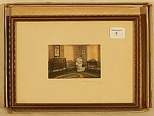Wallace Nutting - Untitled Interior Scene in Original Box