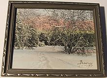 Charles Sawyer - Foot Prints - Snow Scene