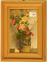 Wallace Nutting - Close-Framed Floral Still Life Scene