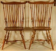 Wallace Nutting Furniture - Two #326 Windsor Side Chairs and 3 Books
