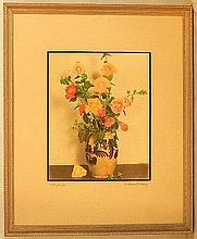 Wallace Nutting - Hollyhocks - Floral