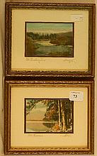 Charles Sawyer - Two Miniature Exterior Scenes