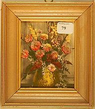 Wallace Nutting - Miniature Floral Still Life Scene
