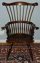 Wallace Nutting Furniture - #415 Comb Back Windsor Arm Chair