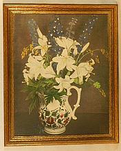 Wallace Nutting - Close-Framed Floral Still Life - The Painted Pitcher