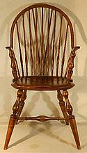 Wallace Nutting Furniture - #402 Continuous Arm Windsor Chair (without Comb)