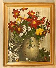 Wallace Nutting - Close-Framed Floral Still Life - Dahlia Jar