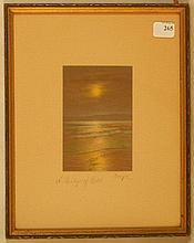 Charles Sawyer - A Bridge of Gold - Rare Moonlit Night