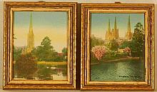 Wallace Nutting - Two Miniature Foreign Scenes