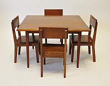 Child's Walnut Table & Chairs
