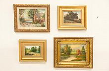 4 Miniature Paintings