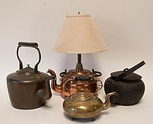 Four Early Tea Kettles