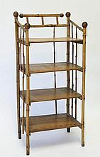 Burnished Bamboo Shelf Stand