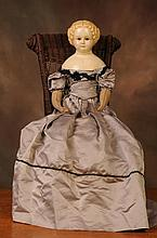 Large Early Papier Mache Doll
