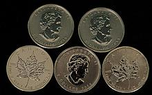 5 - 2011 $5 Silver Maple Leaf Coins