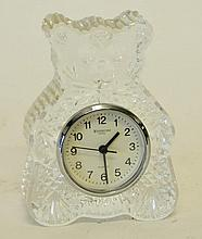 Waterford Crystal Teddy Bear Clock