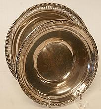 Two Sterling Silver Trays