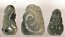 Three Chinese Jade Toggles