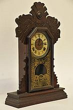 Ingraham Gingerbread Mantle Clock