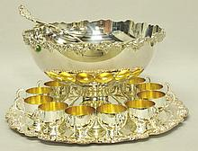 Towle Silverplate Punch Bowl Set