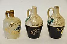3 Ohio Advertising Whiskey Jugs