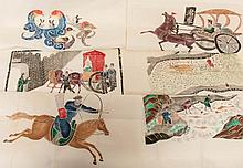 Lot of Chinese Block Prints & Paper Cuts