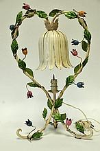 Mid 20th C. Tole Lamp