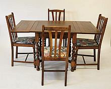 English Pub Table & 4 Chairs