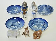 Lot of 9 Bing & Grondahl Porcelain Pieces