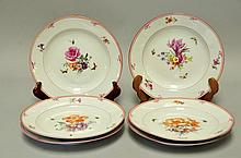 Set of 6 KPM Hand Painted Porcelain Plates