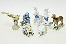 Seven Porcelain Figurines