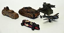 1 Race Car, 4 Military Toys