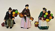3 Royal Doulton Porcelain Figures