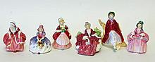 6 Royal Doulton Porcelain Figures
