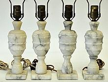 Set of 4 Alabaster Lamps