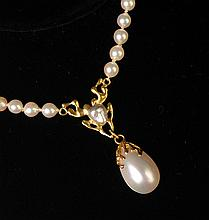 Baroque & Mobe Pearl Necklace