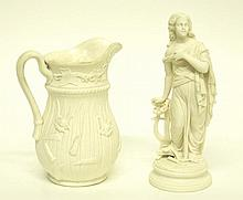 Parian Figure & Pitcher