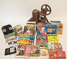 c. 1940s 8mm Projector, Films, Screen