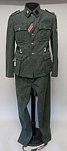 German Nazi SS Combat Tunic & Trousers