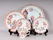 Service for 12--Hand Painted Adams Calyx Ware