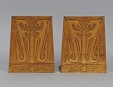 Tiffany Studios Bronze Chinese Bookends